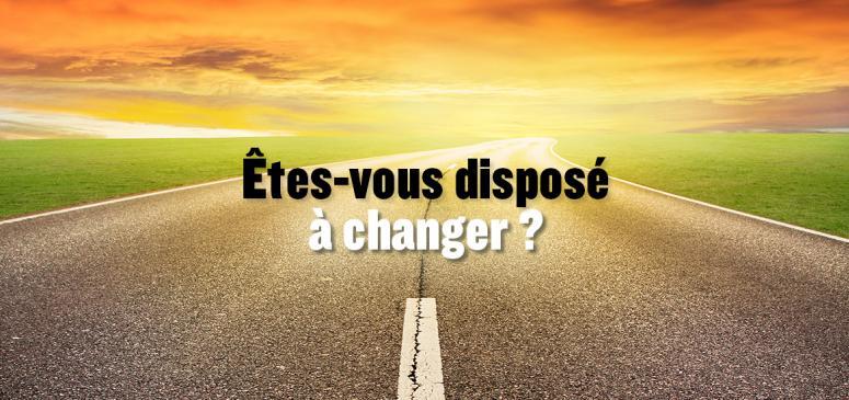 Front slider - Êtes-vous disposé à changer?