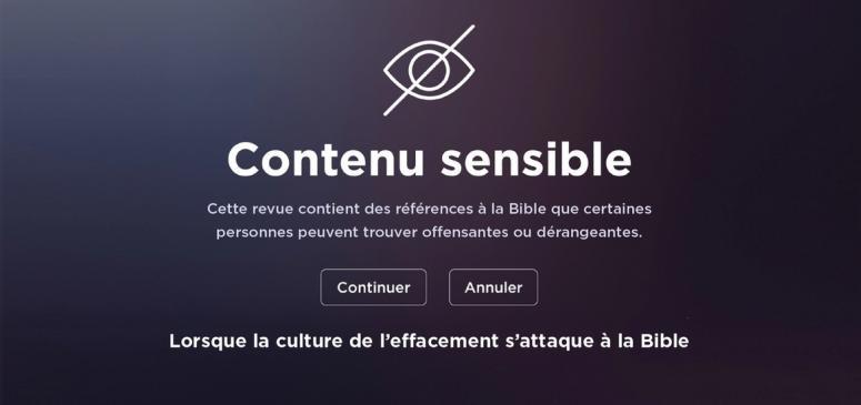 Front slider -- L'art subtil d'effacer la Bible