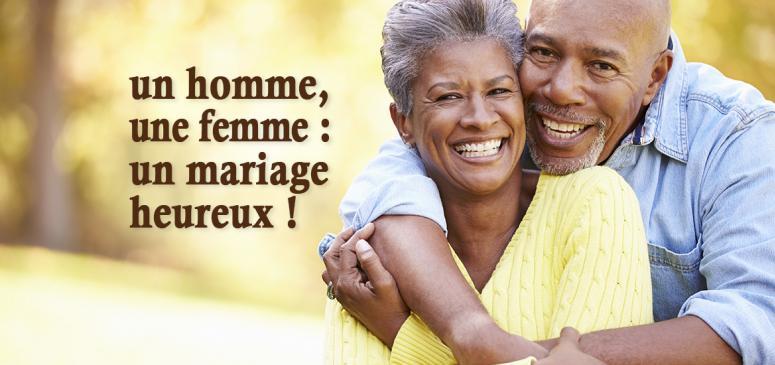 Front slider -- Un homme, une femme: un mariage heureux