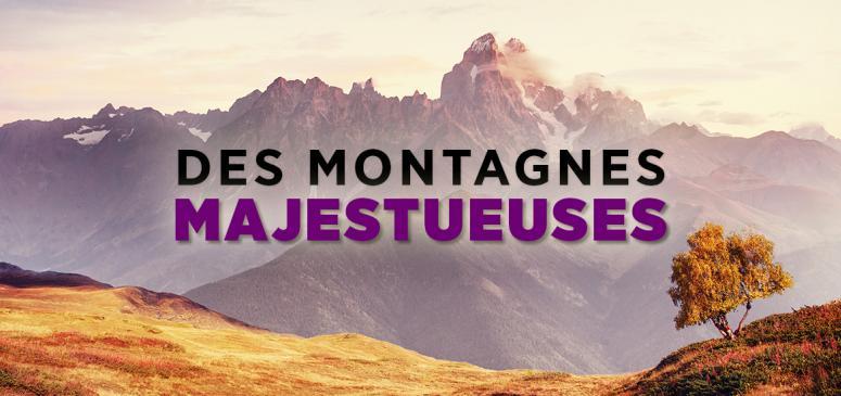 Front slider - Des montagnes majestueuses
