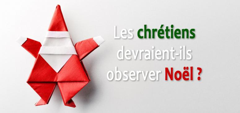 Front slider - Les chrétiens devraient-ils observer Noël?
