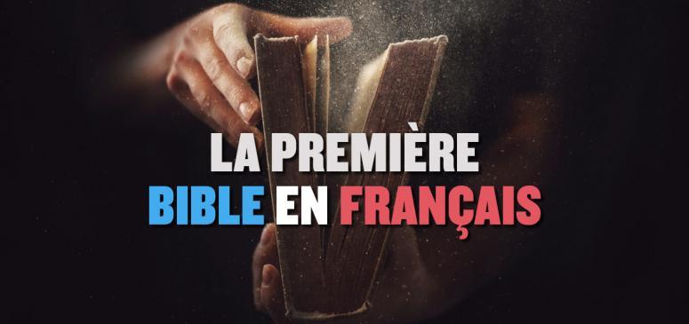 Front slider - La première Bible en français