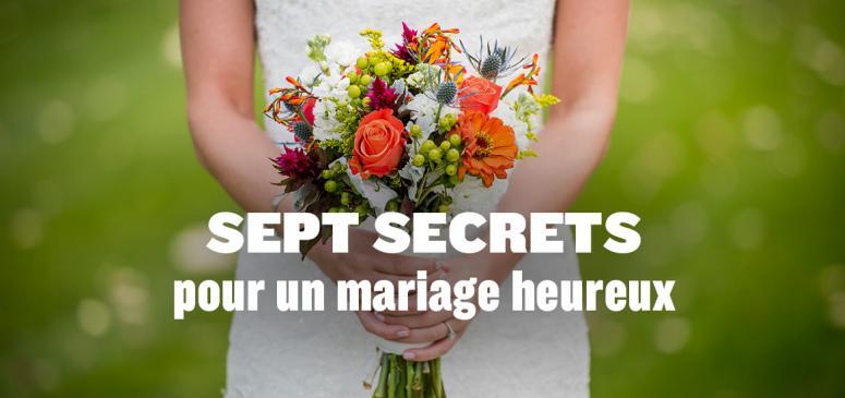Front slider - Sept secrets pour un mariage heureux